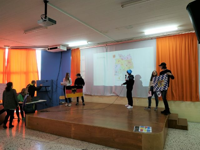 students present their countries and schools